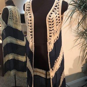 Bohemian long vest